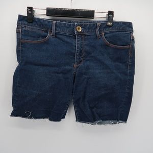 Banana Republic Blue Cut Jean Shorts Size 30